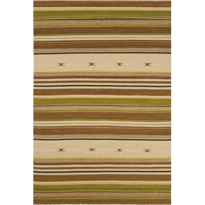 Continental Rug Company City Stripes Beige / Green Area Rug