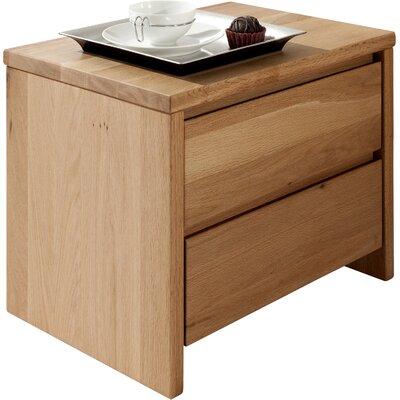 MS Schuon Nachttisch Hägar mit 2 Schubladen