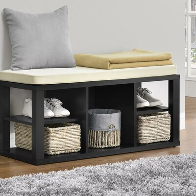 Annsville Wood Storage Bench Color: Black