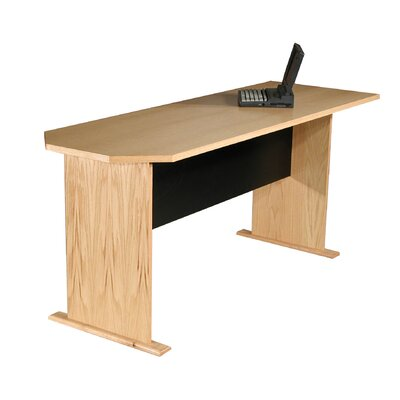 "Modular Real Oak Wood Veneer 29.5 H x 71.25"" W Desk Peninsula"