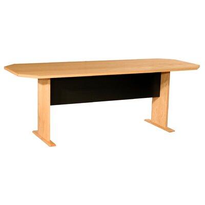 "Prestige Modular Real Oak Wood Veneer Furniture Racetrack/Oval 29.5""H x 84""W x 32""L Conference Table"