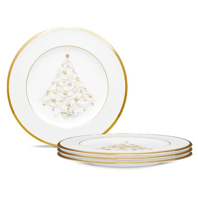 "Noritake Palace Christmas Gold 8.5"" Holiday Accent Plates"