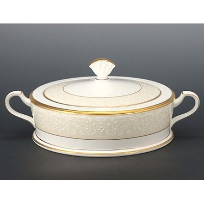 Noritake White Palace 64 oz. Covered Vegetable Bowl