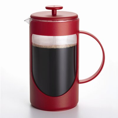 3-Cup Ami-Matin French Press Coffee Maker Size: 3 Cup, Color: Red