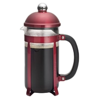 Maximus 8 Cup French Press Coffee Maker Color: Red