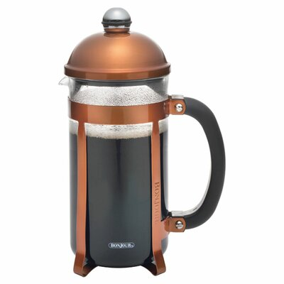 Maximus 8 Cup French Press Coffee Maker Color: Brown