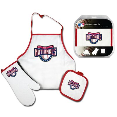 Chicago Cubs 3 Piece BBQ Barbeque Set MLB Team: Washington Nationals