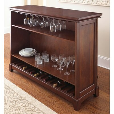 Martinez Bar with Wine Storage Color: Cherry