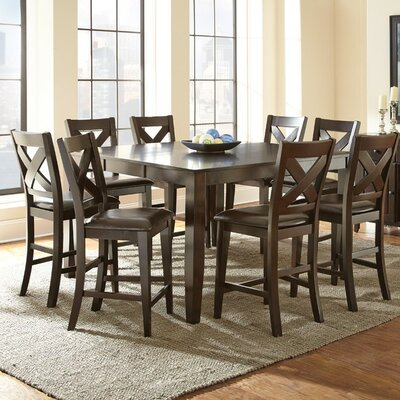Steve Silver Furniture Crosspointe Counter Height Extendable Dining Table Reviews Wayfair