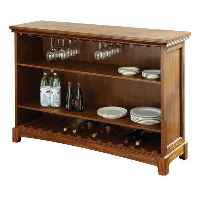 Martinez Bar with Wine Storage Color: Oak
