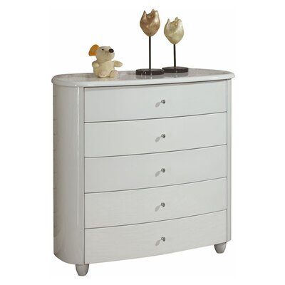 Home & Haus Borviewe 5 Drawer Chest of Drawers