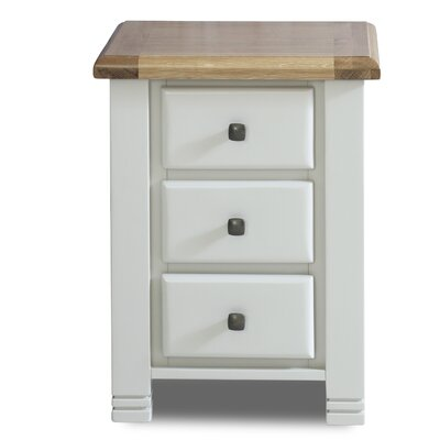 Birlea Woodstock 3 Drawer Bedside Table