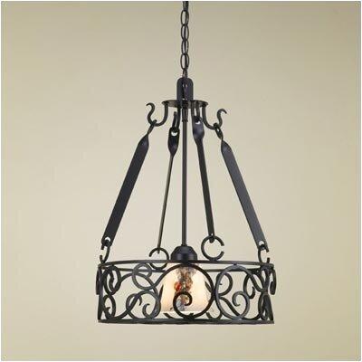 Authentic Iron Circular Hanging Pot Rack with Light | Wayfair