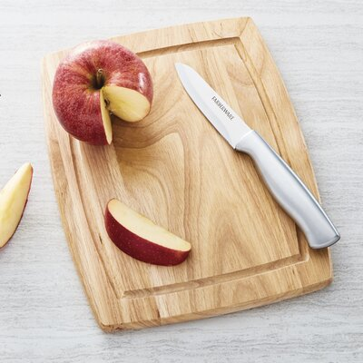 Wood Utility Cutting Board with Drip Groove Trench