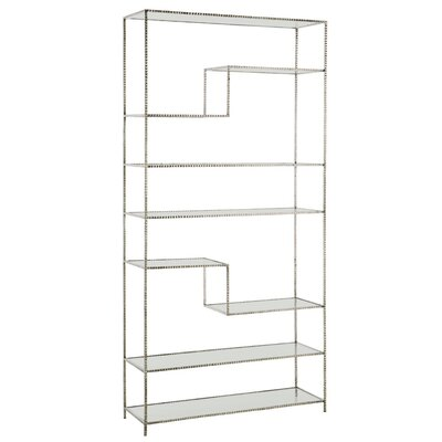 Worchester Etagere Bookcase Color: Silver Leaf
