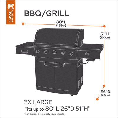 Classic BBQ Grill Cover Size: XXX-Large