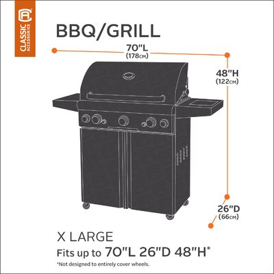 Classic BBQ Grill Cover Size: X-Large