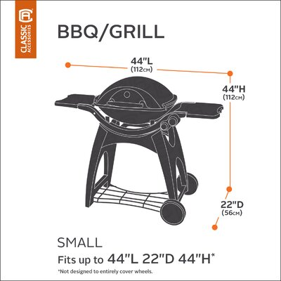 Classic BBQ Grill Cover Size: Small