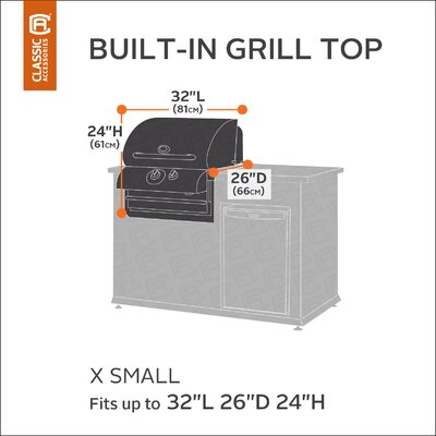 Classic Built-IN Grill Cover Size: X-Small