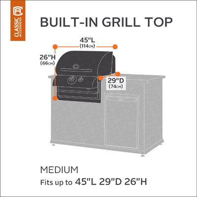Classic Built-IN Grill Cover Size: Medium