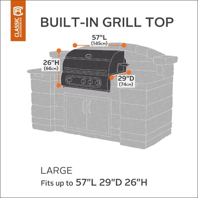 Classic Built-IN Grill Cover Size: Large