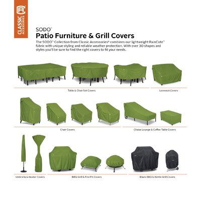 """Sodo Patio Kettle BBQ Grill Cover - Fits up to 84"""""""