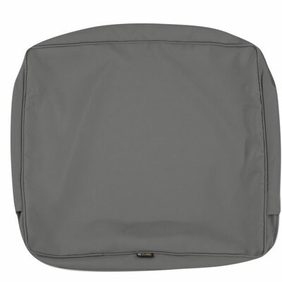 """Fadesafe? Indoor/Outdoor Cushion Cover Size: 3"""" H x 21"""" W x 21"""" D, Fabric: Light Charcol Gray"""