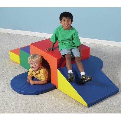 Children's Factory 7 Peice Soft Tunnel Slide Set