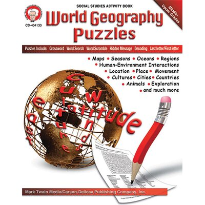 Frank Schaffer Publications/Carson Dellosa Publications World Geography Puzzles Board Cut Out Set