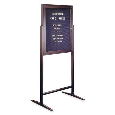 Ghent Standing Message Center Free-Standing Letter Board, 3' H x 2' W