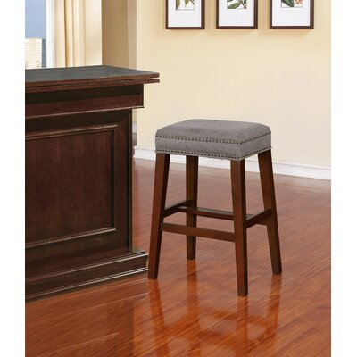 "Bloomer Bar & Counter Stool Seat Height: Bar Stool (30.5"" Seat Height), Upholstery: Solid Gray"