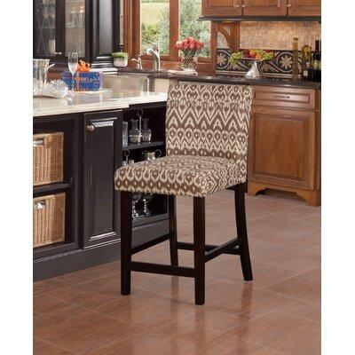 "Big Bear Lake Bar & Counter Stool Seat Height: Counter Stool (24"" Seat Height), Upholstery: Ikat Pattern"