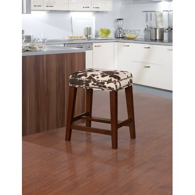 "Bloomer Bar & Counter Stool Seat Height: Counter Stool (24.5"" Seat Height), Upholstery: Brown Cow"