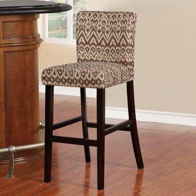 "Big Bear Lake Bar & Counter Stool Seat Height: Bar Stool (30"" Seat Height), Upholstery: Ikat Pattern"
