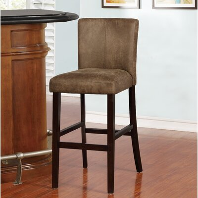 "Big Bear Lake Bar & Counter Stool Seat Height: Bar Stool (30"" Seat Height), Upholstery: Solid Brown"