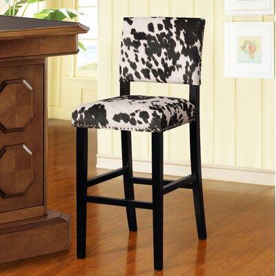 "Boyabat Bar & Counter Stool Seat Height: Bar Stool (30"" Seat Height), Color: Black Cow Print"
