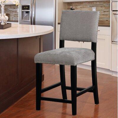 """Boyabat Bar & Counter Stool Seat Height: Counter Stool (24"""" Seat Height), Color: Gray"""