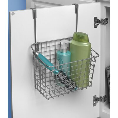 Large Over the Cabinet Door Organizer Color: Satin Nickel