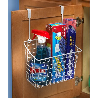 Large Over the Cabinet Door Organizer Color: White