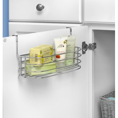 Duo Over the Cabinet Towel Bar and Basket Finish: Chrome
