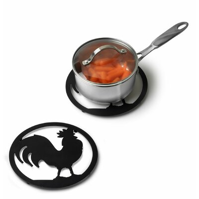 Spectrum Diversified Silhouettez Pantry Rooster Trivet in Black