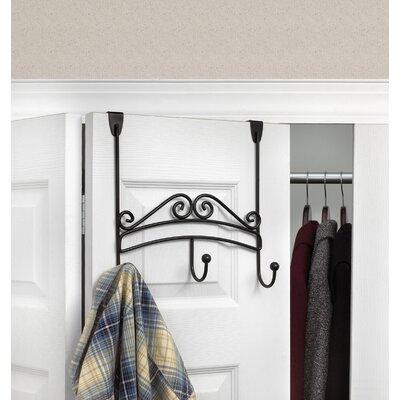 Yorkshire Over the Door 3-Hook Rack Finish: Black