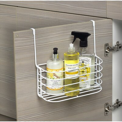 Duo Over the Cabinet Towel Bar and Basket Finish: White