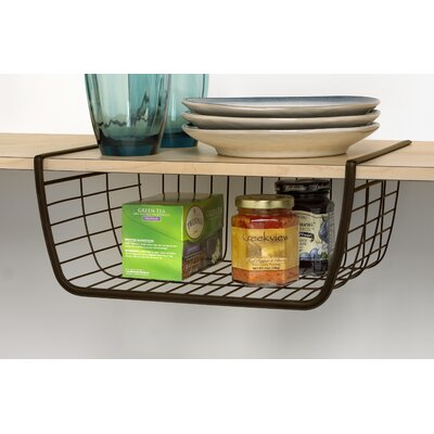 Ashley Under Shelf Basket Finish: Bronze Finish