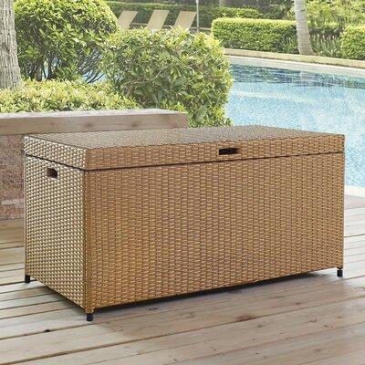 Brandy Outdoor Resin Deck Box Color: Brown