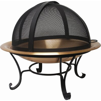 "Copper Wood Burning Fire Pit Size: 30"" Diameter"