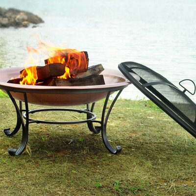 Steel Wood Burning Fire Pit Size: 40""
