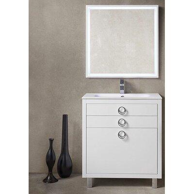 "Platinum 32"" Due Single Bathroom Vanity Set Base Finish: Glossy White"