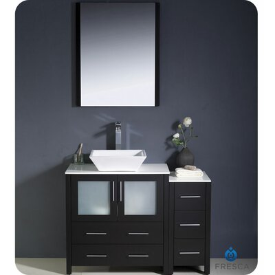 "Fresca Torino 42"" Single Modern Bathroom Vanity Set with Mirror"