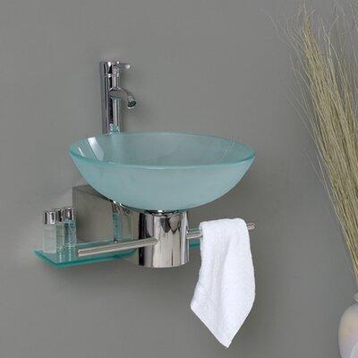 Vetro Glass Circular Vessel Bathroom Sink